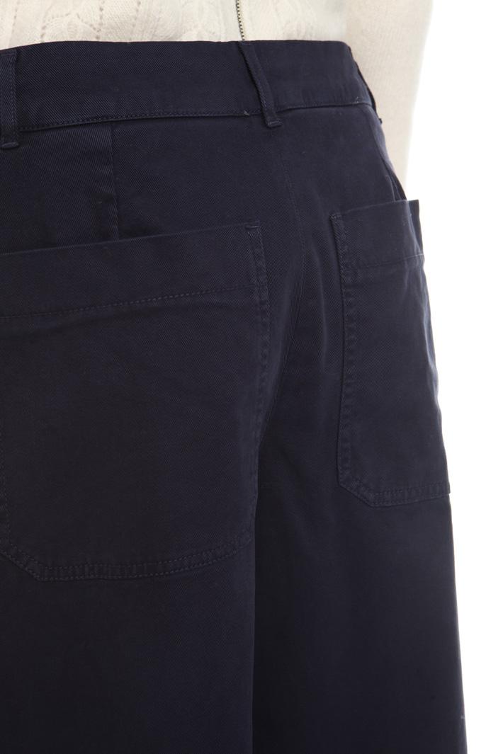 Pantaloni cropped in gabardina Fashion Market