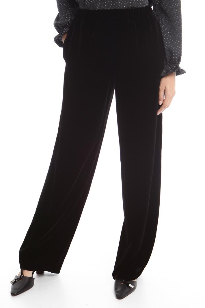 Pantaloni palazzo in velluto Fashion Market