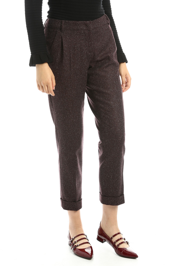 Pantaloni in tweed di lana Fashion Market