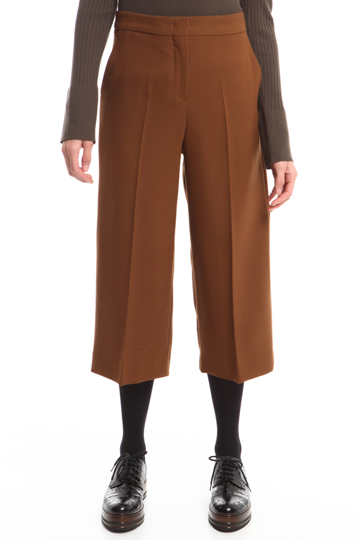 Pantaloni in tela di lana Fashion Market