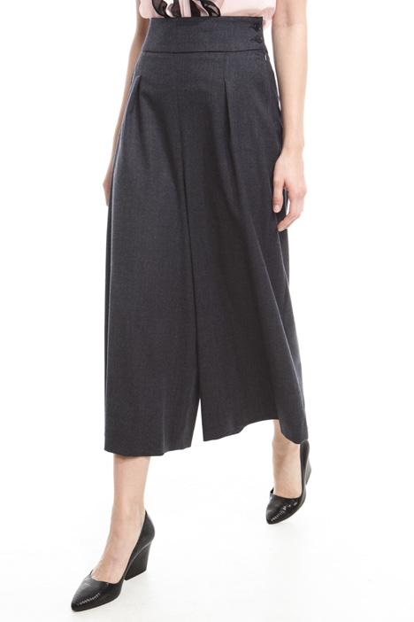 Pantaloni cropped in flanella Fashion Market