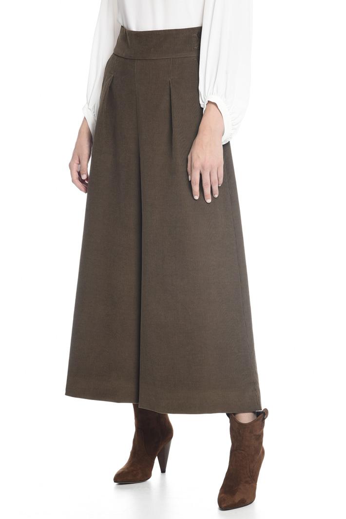 Pantaloni svasati in velluto Fashion Market