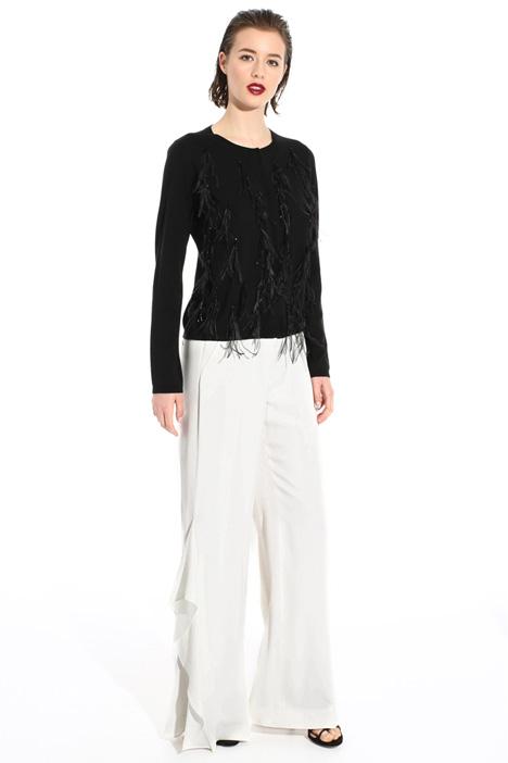 Pantalone enver satin opaco Fashion Market