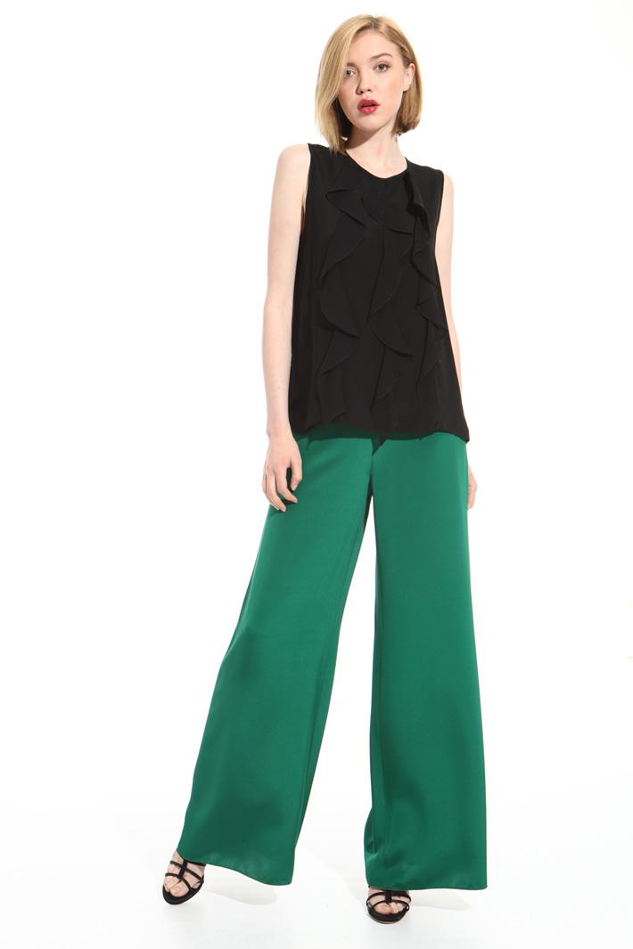 Pantalone a palazzo in seta Fashion Market