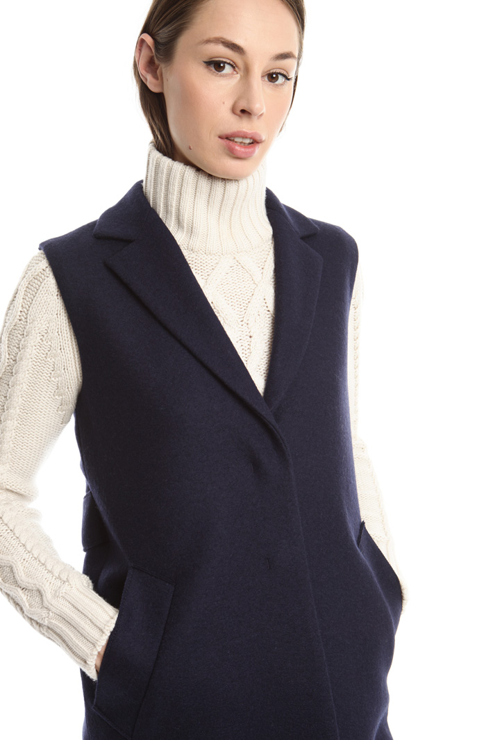 Gilet in feltro di lana Fashion Market