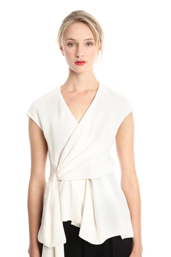 Top incrociato in cady Fashion Market