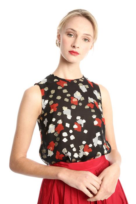 Top in crepe fil coupé Fashion Market