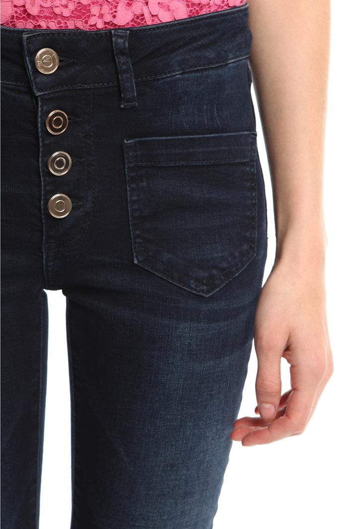 Jeans flared con bottoni Fashion Market