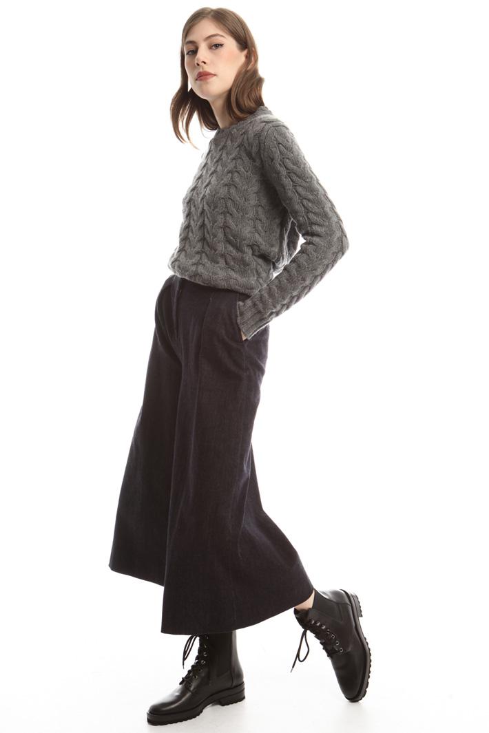Pantaloni svasati in denim Fashion Market