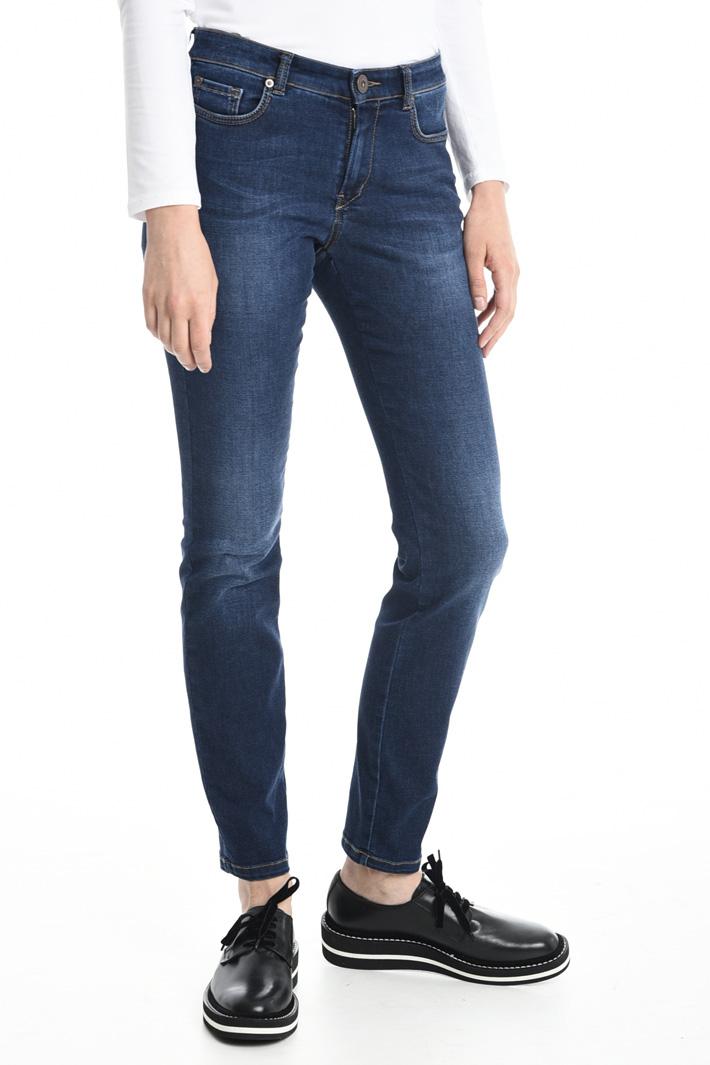 Pantaloni in denim aderenti Fashion Market
