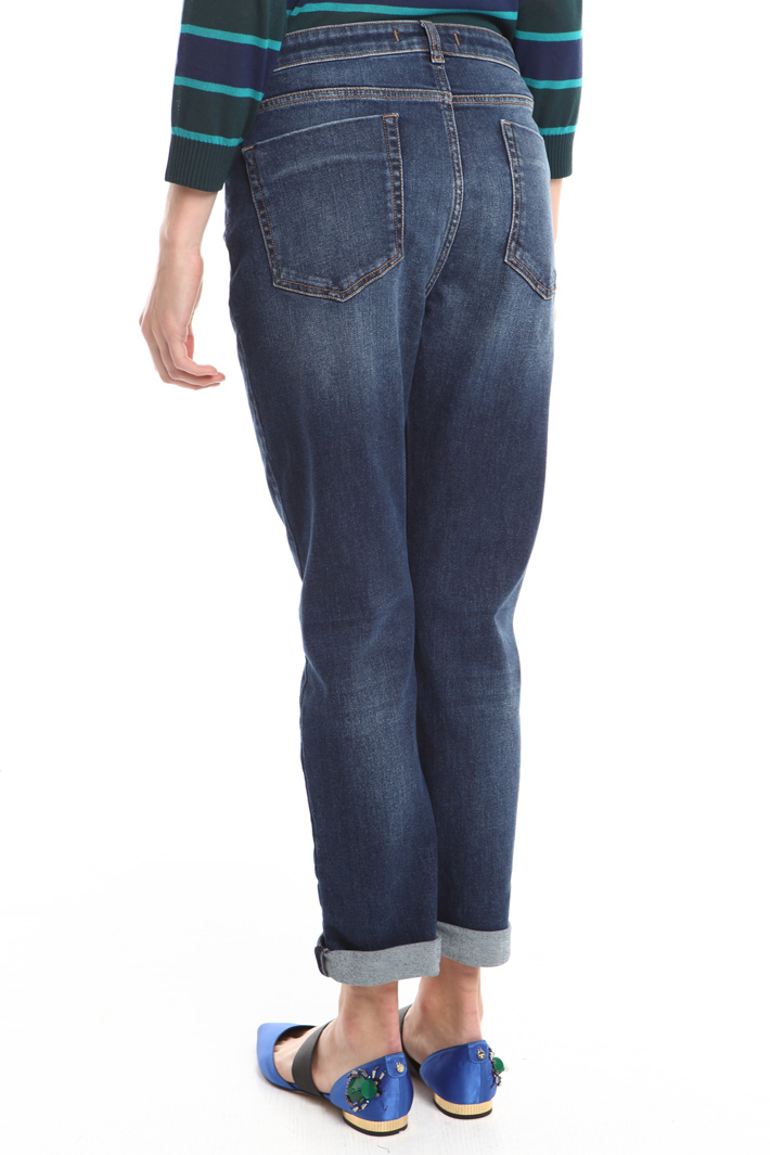 Jeans a sigaretta con risvolti Fashion Market