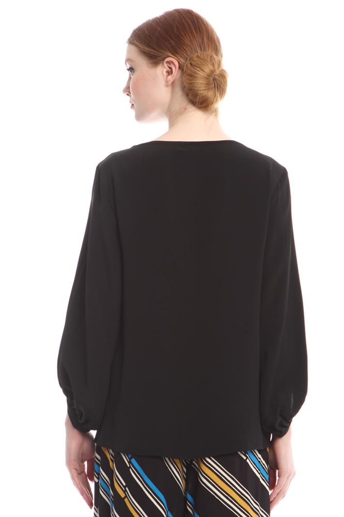 Blusa in crepe misto seta Fashion Market