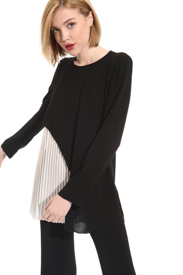Blusa effetto plissè Fashion Market