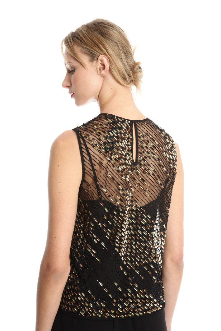 Top in tulle con paillettes Fashion Market