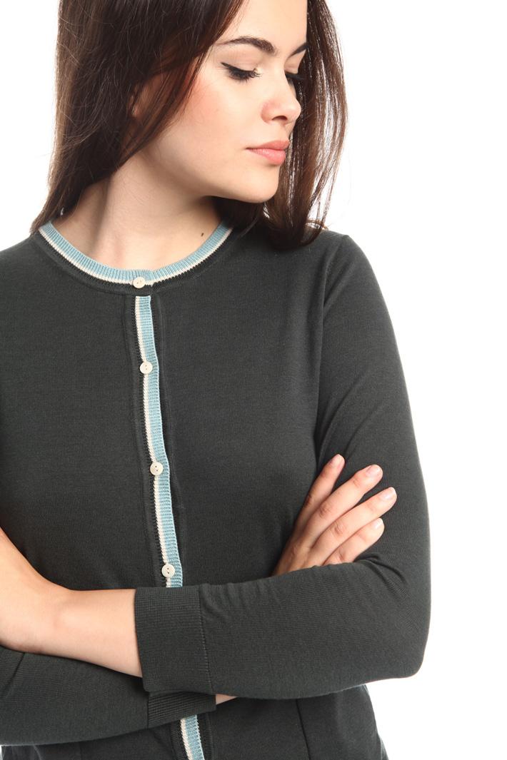 Cardigan in seta e cotone Fashion Market