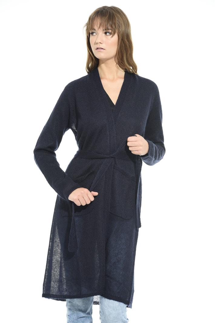 Cardigan lungo in lana Fashion Market