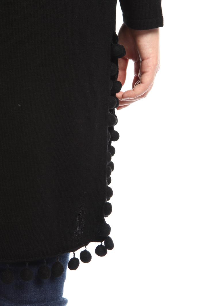 Cardigan lungo con pompon Fashion Market