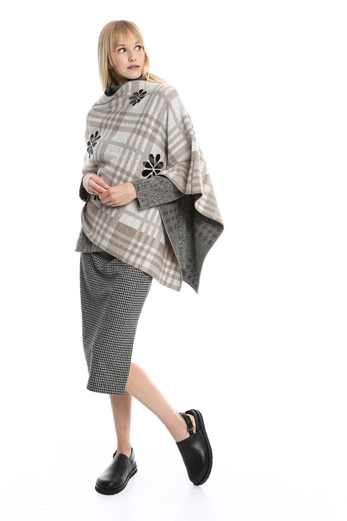Poncho asimmetrico a fantasia Fashion Market