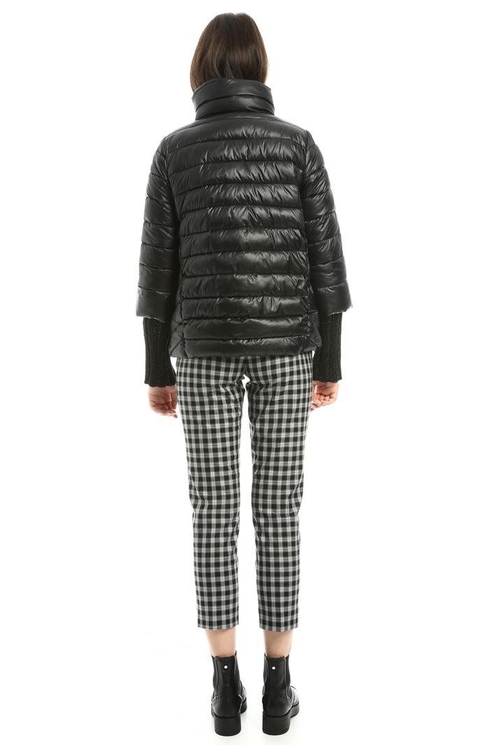Piumino con polsini in maglia Fashion Market