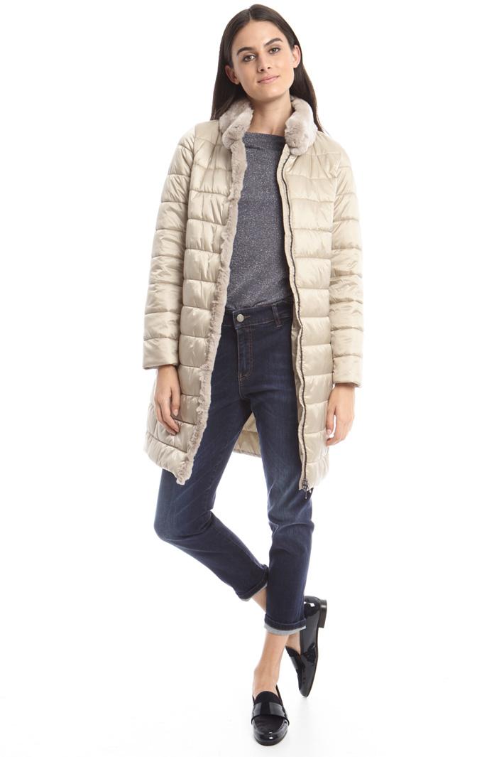 Imbottito con  pelliccia Fashion Market