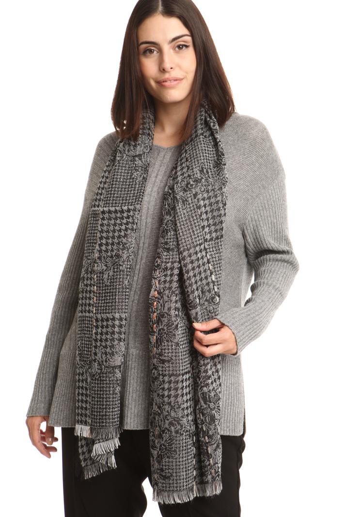 Sciarpa jacquard in misto lana Fashion Market