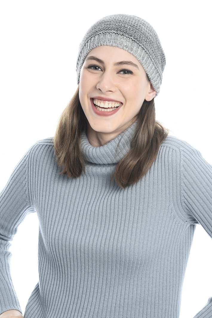 Cuffia in lana punto links Fashion Market