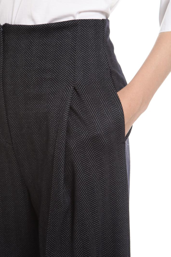 Pantaloni cropped in chevron Fashion Market
