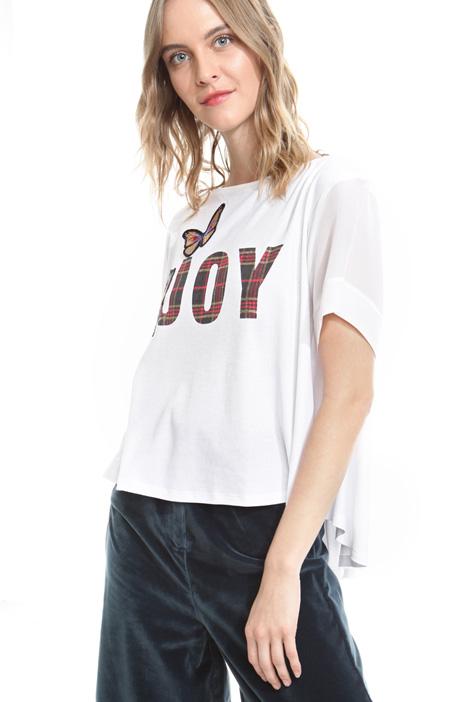 T-shirt boxy con stampa Fashion Market