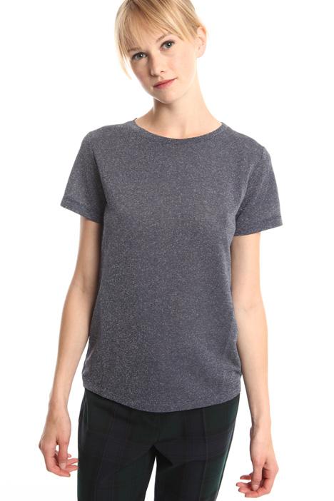 T-shirt in viscosa lurex