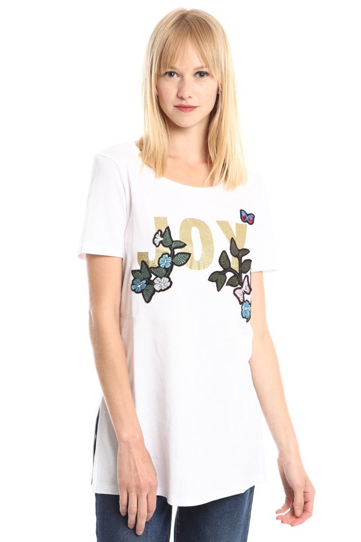 T-shirt con stampa glitter Fashion Market