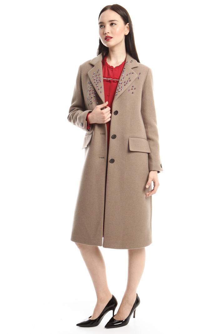 Cappotto con ricamo bijoux Fashion Market