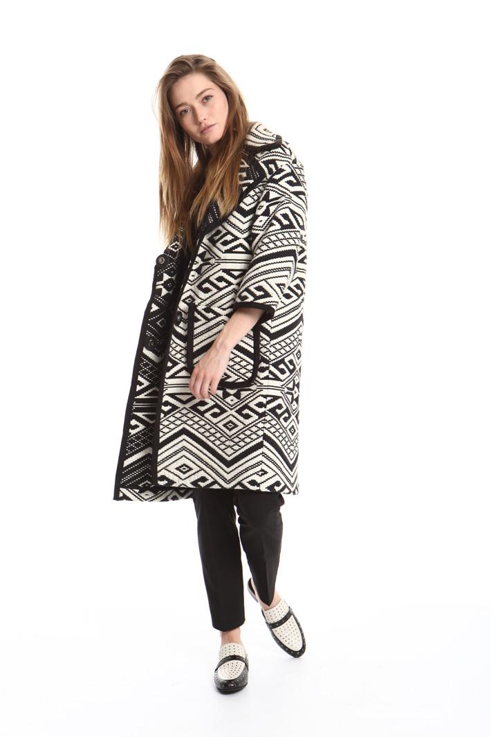 Cappotto in cotone jacquard Fashion Market