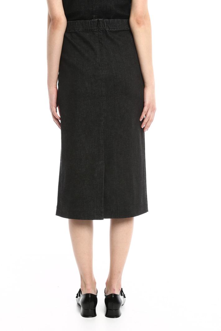 Longuette in denim Fashion Market