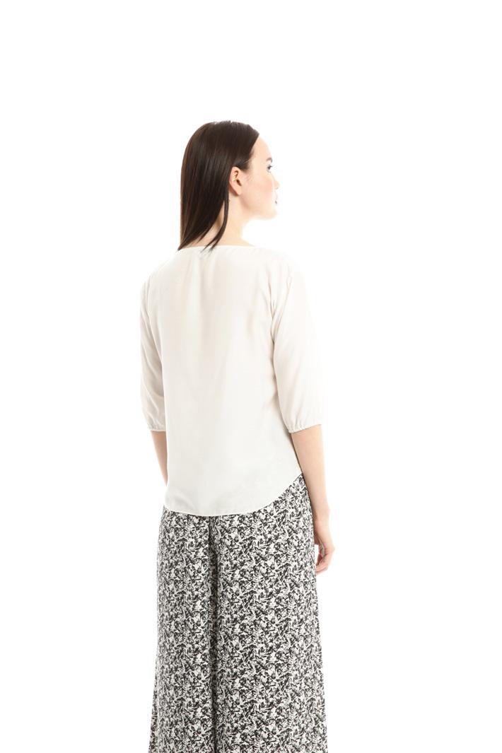 Blusa in voile di misto seta Fashion Market