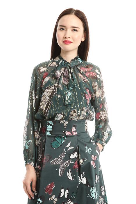 Blusa in chiffon di seta Fashion Market