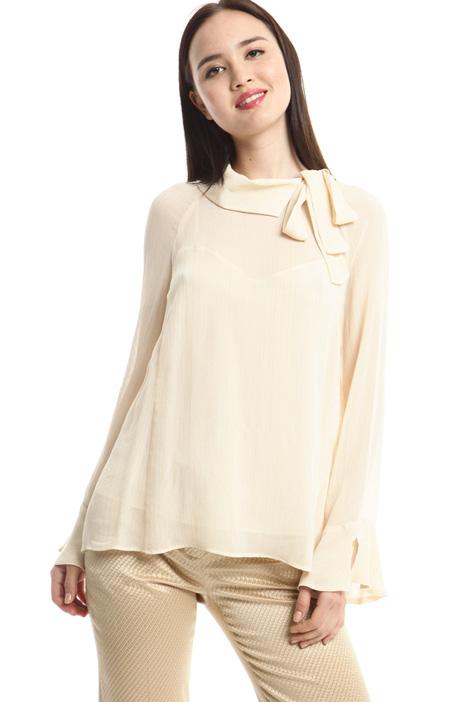 Blusa in creponne lamé Fashion Market