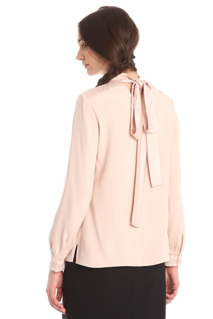 Blusa in crepe enver satin Fashion Market