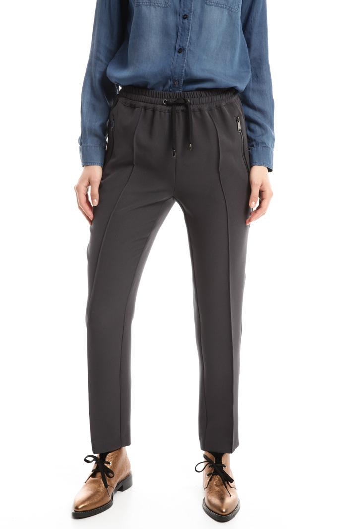 Pantaloni jogging in crepe Fashion Market