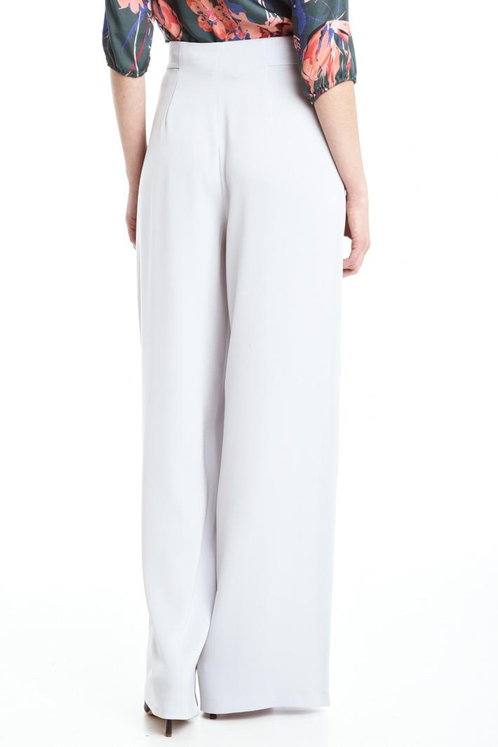 Pantaloni in crepe enver satin Fashion Market