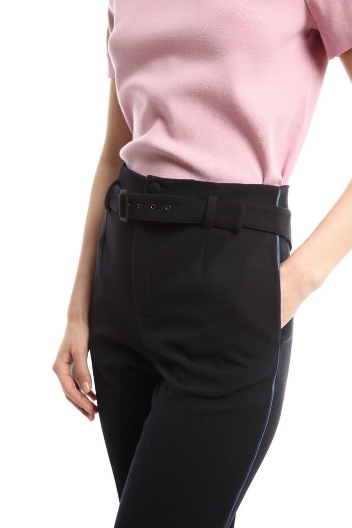 Pantalone in sablé stretch Fashion Market