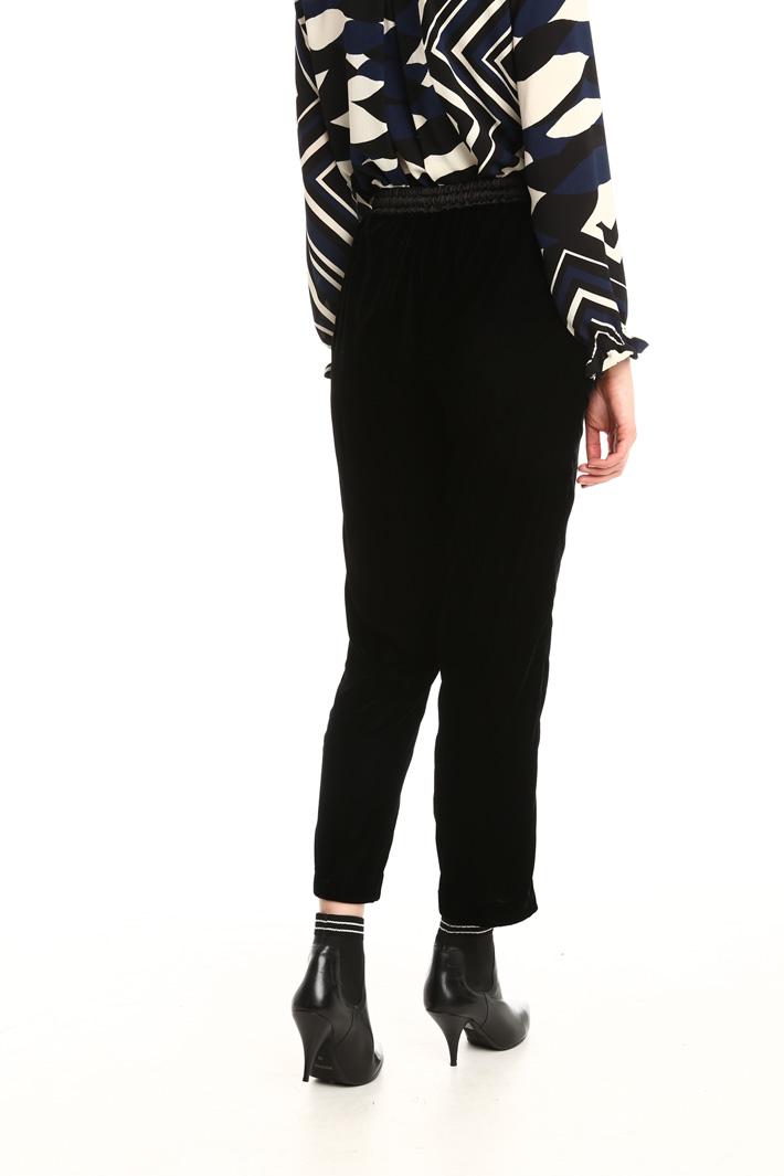 Pantalone jogging in velluto Fashion Market