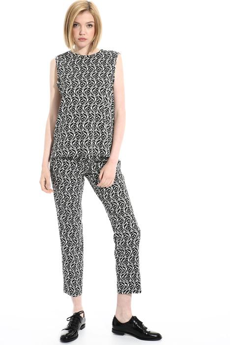 Pantalone cropped in viscosa Fashion Market