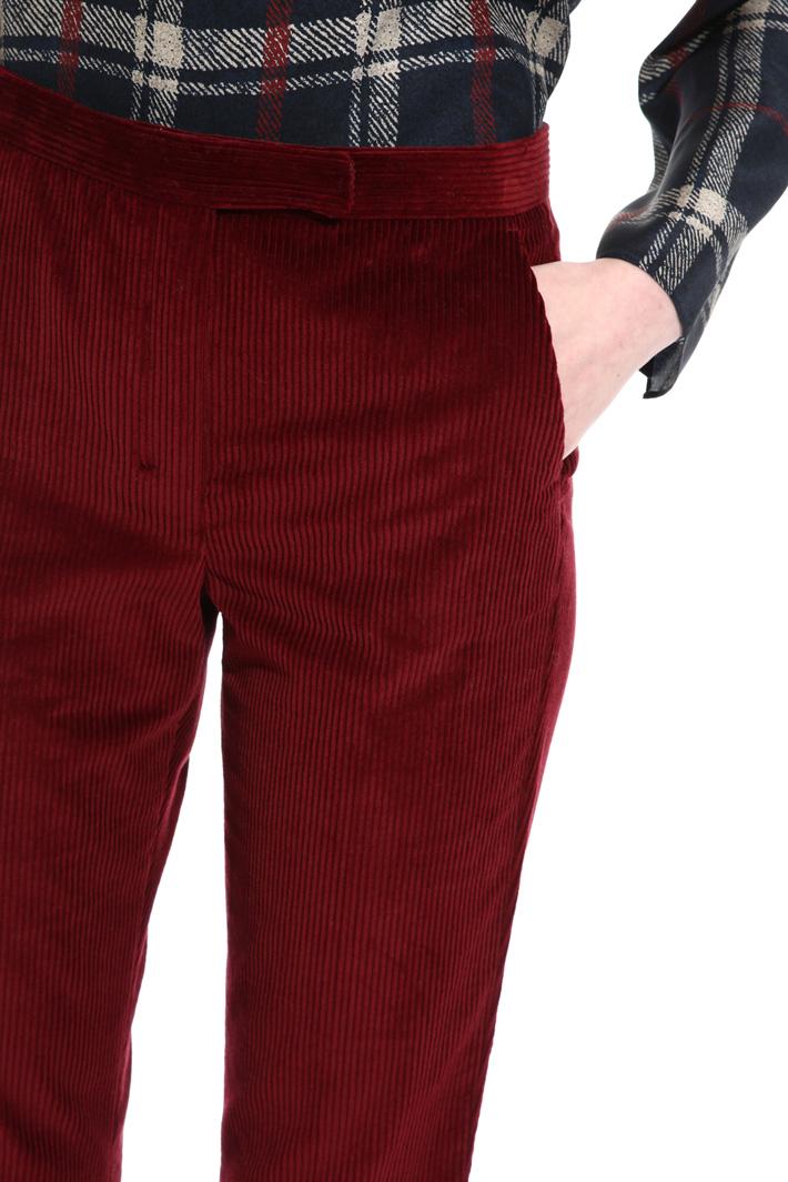 Pantalone regular in velluto Fashion Market