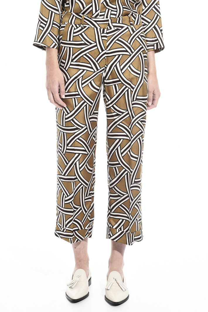 Pantaloni in twill di seta Fashion Market