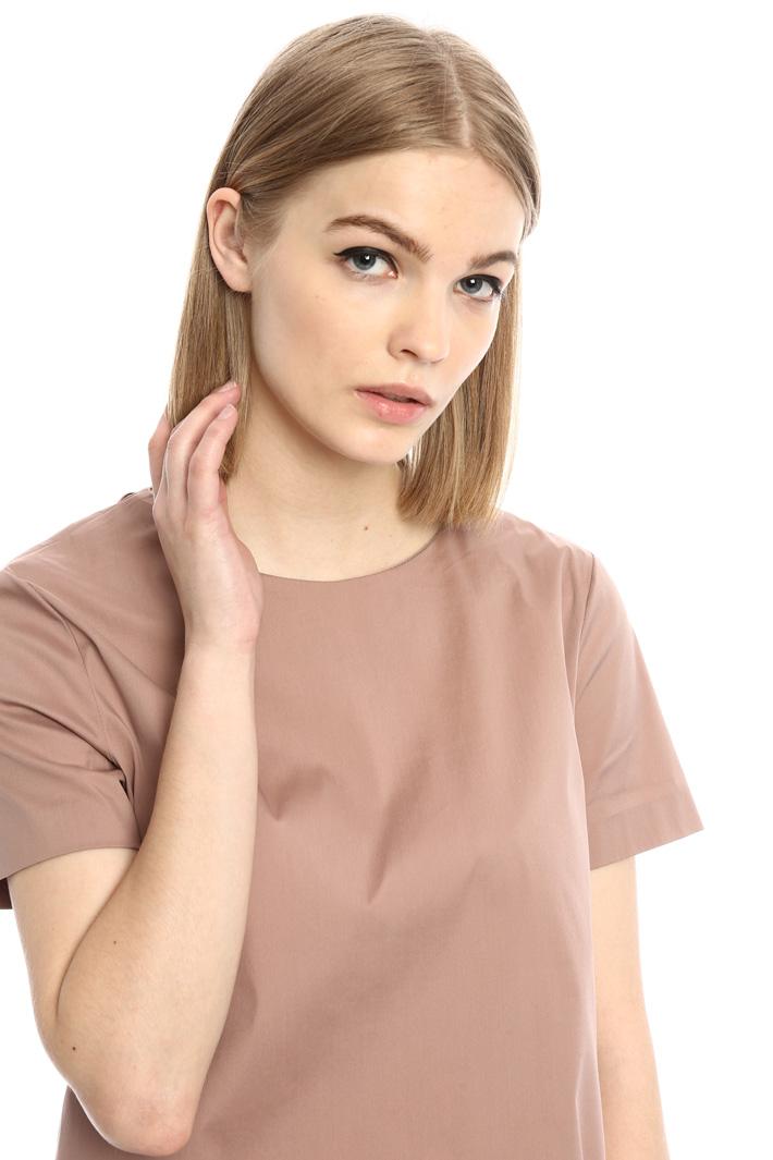 Top in popeline di cotone Fashion Market