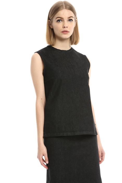 Top senza maniche in denim Fashion Market