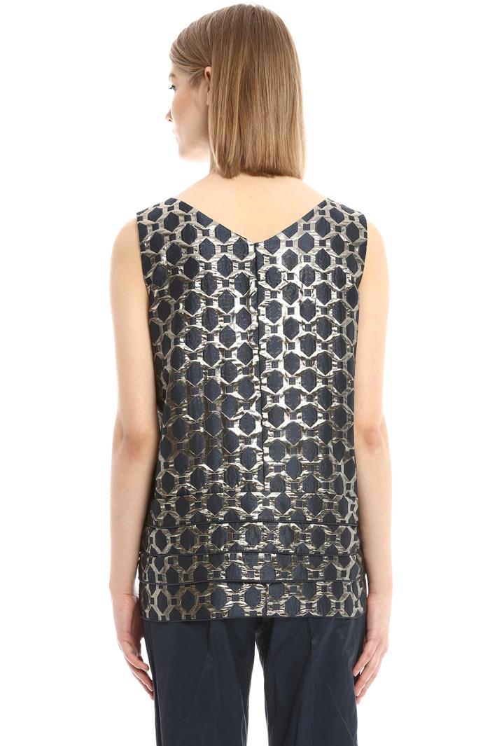 Top jacquard con balze Fashion Market