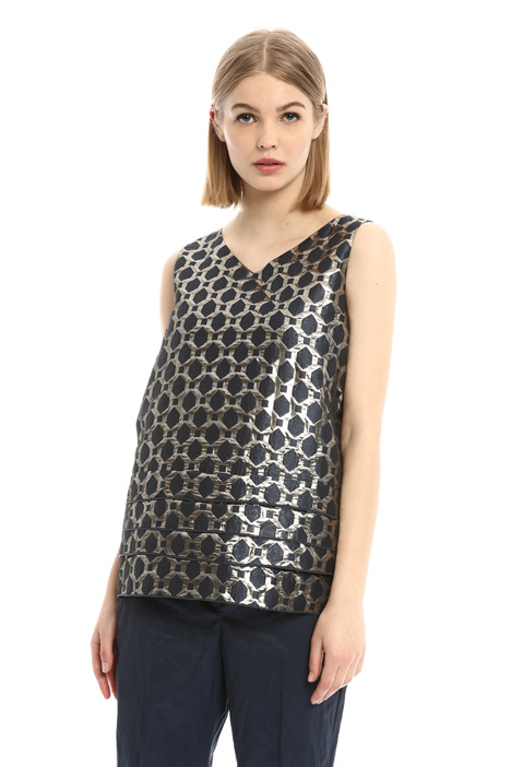 Top jacquard con balze Fashion Market