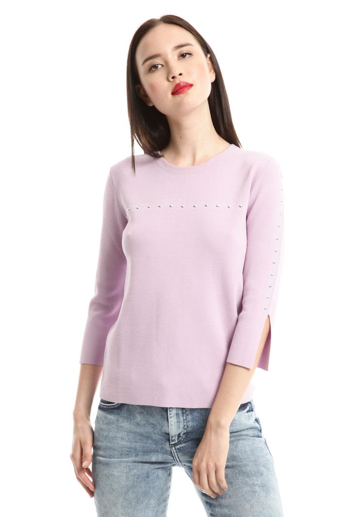 Maglia in viscosa con borchie Fashion Market