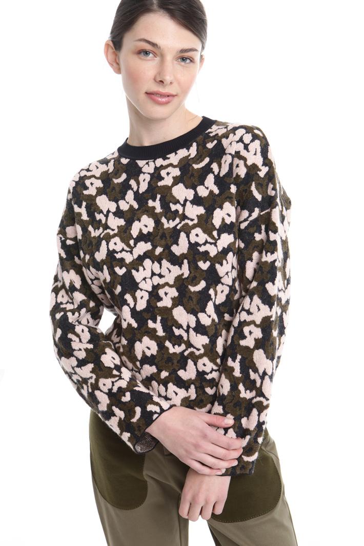 Maglia jacquard in lana Fashion Market